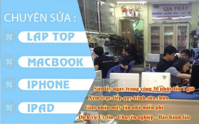Sửa Macbook đường Trần Văn Đang