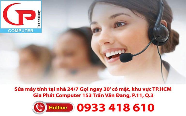 Hotline sửa chữa máy tính tại nhà
