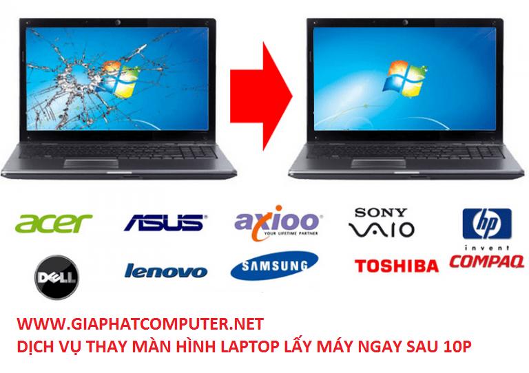 Thay màn hình laptop đường hòa hưng