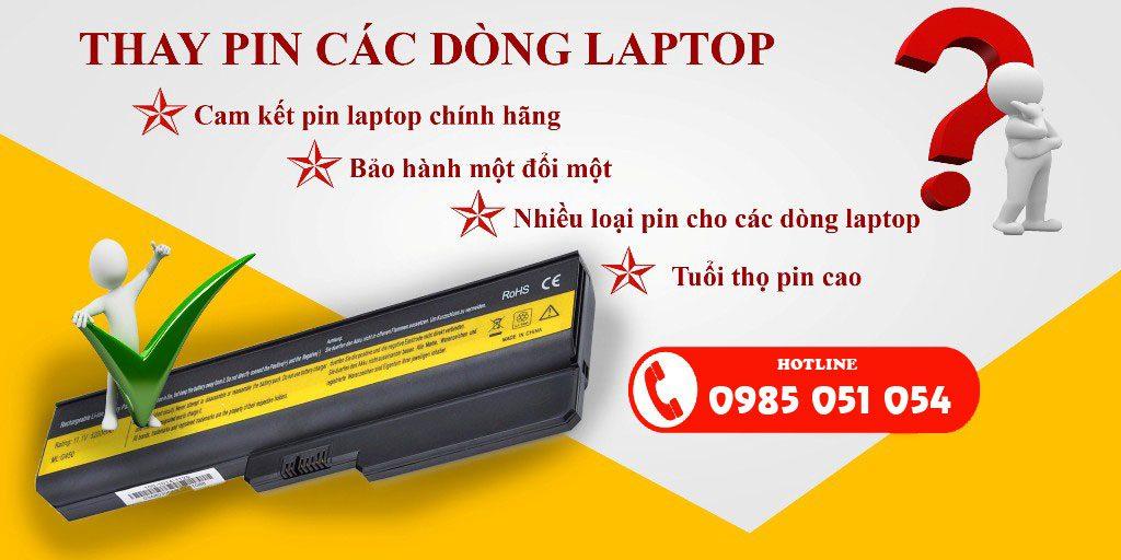 Thay pin laptop uy tín giá rẻ tại Gia Phát Computer