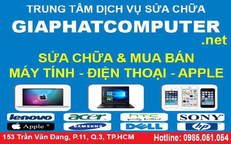 Sửa laptop đường Trần Huy Liệu