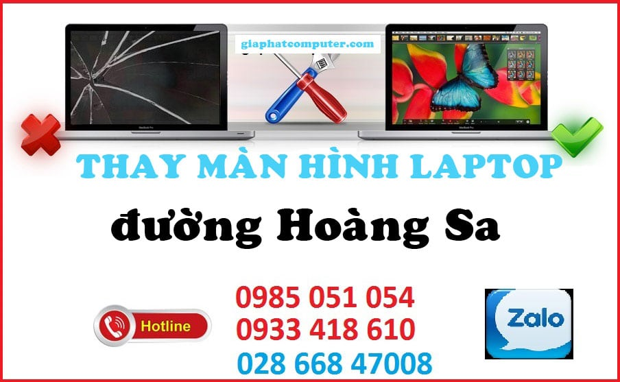 Thay màn hình laptop đường Hoàng Sa