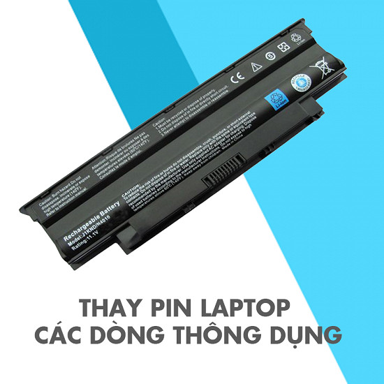Thay pin laptop đường nguyễn thông