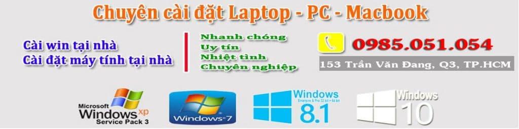 Cài win tại nhà đường Nguyễn Thông