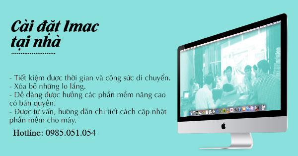 Cài đặt Macbook và imac tại nhà