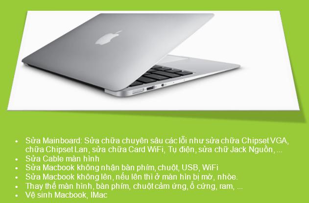 Sửa macbook đường ba vì